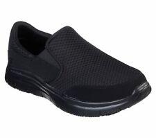 Skechers Men's Work Relaxed Fit Flex Advantage McAllen SR Slip On Shoes 77048
