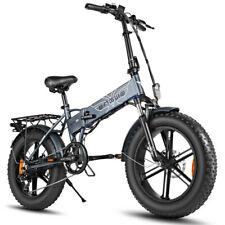20'' 500W Folding Electric Bike Fat Tire Mountain Bicycle w/ 7 Speeds Dual Disc