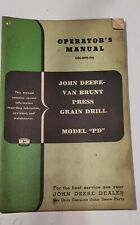 Vintage John Deere Van Brunt Pd Press Grain Drill Omm10756 Operators Manual