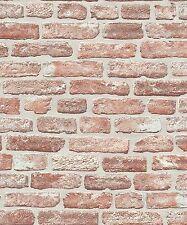 Erismann Wallpaper - Stone Wall / Brick Optic - Beige & Grey -Textured -6939-06