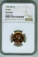 NGC Proof 67 Red 1955 Tripled Die Reverse Cent VP-101