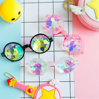 Round Kaleidoscope Sunglasses Women festival Glasses Men Holographic Glasses LY