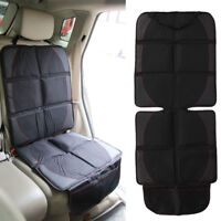 Black Safety Mat Cushion Cover Waterproof Car Seat Protector Non-Slip Child UK