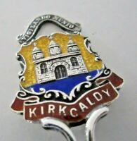 Silver & Enamel Souvenir Spoon, Kirkcaldy, 1908