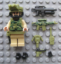 Lego JUNGLE RANGER Commando Custom Minifigure Brickforge, Brickarms Weapons