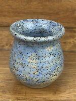 Vintage Lorraine Oerth Studio Small Stoneware Crock Blue Glaze