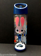DISNEY Store ZOOTOPIA - JUDY HOPPS WATER BOTTLE with SIPPER STRAW NEW