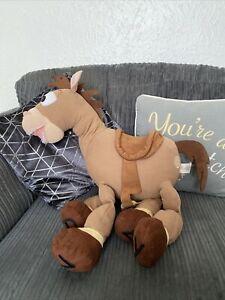 "EXTRA LARGE 24"" Stamped DISNEY STORE BULLSEYE HORSE Plush Teddy SOFT TOY STORY"