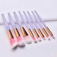 8PCS Make Up Brush Set Eyeshadow Eyeliner Lip Powder Foundation Blusher UK