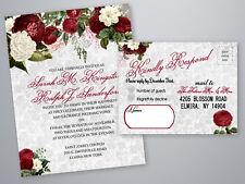 Wedding Invitations Elegant Red Rose Boho Rustic Invites Wedding Country 75
