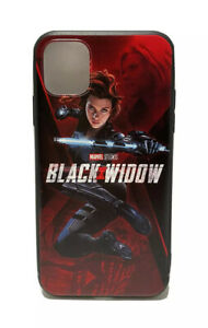 Black Widow Avengers Case Soft Silicone TPU for Apple iPhone 11/11 Pro Max