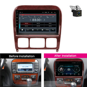 For Mercedes Benz S Class W220 S280 S320 Car Radio 9 Inch Android 8.1 + Camera