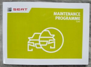 SEAT SERVICE LOG BOOK USED 11 SERVICES 2 STAMPS IN