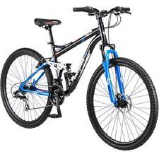 """Mens Mountain Bike 29"""" Black Full Suspension Aluminum Frame Disc Brake Inch New"""