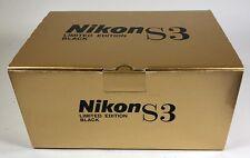 Nikon S3 limited edition black paint complete empty Box set (super rare)