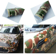 "Forest Camo Vinyl Sheet 19""x 39"" Wrap Car Skin Film Team Hard Camouflage Sticker"