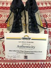 Mike Tolbert 2012 Game Used Worn Nike Football Cleats Chargers Shoes