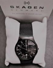 Skagen Herren analog Quarz Uhr 233XLTMB Titan - Stahl - schwarz - black - unisex