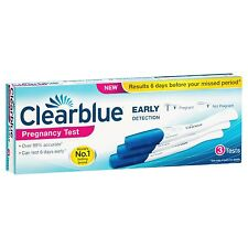 CLEARBLUE PREGNANCY TEST EARLY DETECTION 3 PACK