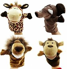 Caleson Zoo Friends Hand Puppets Set of 4 - Elephant, Giraffe, Lion, and Monke