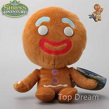 Dreamworks Shrek Puss in Boots Headz Gingerbread Man Soft Plush Toy Doll NWT
