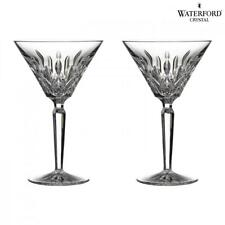 Waterford Crystal Lismore Classic Cocktail Martini Glasses Glass Set of 2