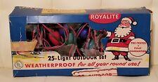 Vintage Royalite Christmas lights outdoor 25 large bulbs