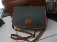 Borsa tessuto vetrificato bordi in pelle Gilcagné tracolla VINTAGE-BAG fabric