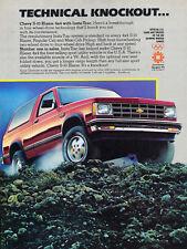 1984 Chevrolet S-10 Blazer 4x4 - Original Car Advertisement Print Ad J166