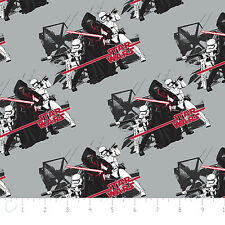 Star Wars The Force Awakens Imperial Grey Camelot 100% cotton Fabric by the yard