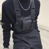 Walkie Talkie Brusttasche Harness Tasche Rucksack Funk Handy Halter Pack 22x18cm