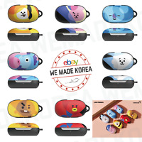 BT21 Character Buds Case Hard Cover Skin Ver.3 + Carabiner Authentic K-POP Goods