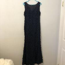 KARL LAGERFELD PARIS Women's Navy Floral 3D Appliqué Lace Dress 8