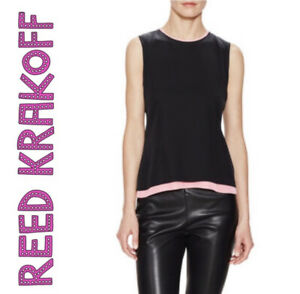 Reed krakoff Layered Shell. Brand new. Black, pink RETAIL $990