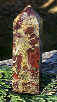 69g BEAUTIFUL AUSTRALIAN NATURAL DRAGON BLOOD STONE CRYSTAL HEALING WAND Reiki
