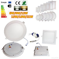 9W 12W 15W 18W 21W Dimmable Recessed LED Panel Light Epistar Ceiling Down Lights