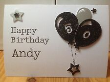 Handmade male  birthday card 21st, 30th, 40th , 50th etc- personalised with name