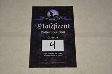Disney Limited Edition Doll Line Reservation Card Sleeping Beauty Maleficent 4