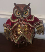 katherine's collection crimson owl Doll  Christmas Figure Retired Woodland