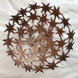 Tobin James Winery Antiqued Copper Colored Star Basket/Fruit Bowl/Centerpiece