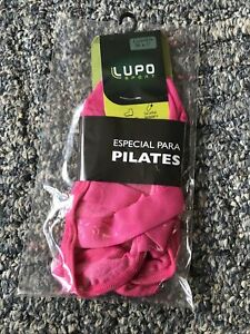 NWT Lupo No Slip Crossover Yoga Pilates Barre Socks Medium M 4.5-8 Pink 34-37