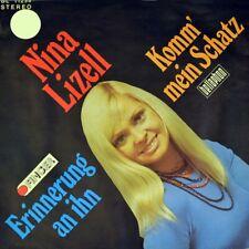 """7"""" NINA LIZELL Komm mein Schatz / Erinnerung an ihn BELLAPHON FINGER orig. 1974"""