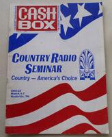 1992 CASH BOX MUSIC MAGAZINE PUBLICATION COUNTRY RADIO SEMINAR