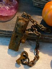 Vintage Miniature Dollhouse Artisan Halloween Old Rusted Skeleton Key Door Knob