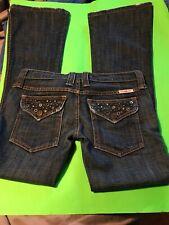 Frankie B Vintage Boho Studded Detailed 5 Pocket Low Cut Jeans 2 Rare Find!