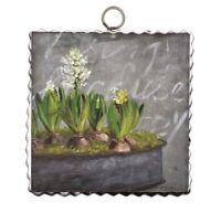 Round Top Collection NWT - Mini Impression Hyacinth Print - Metal & Wood