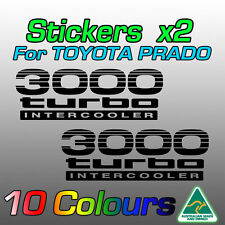 Toyota Prado stickers decals x2 for 3000 turbo intercooler  **premium quality**
