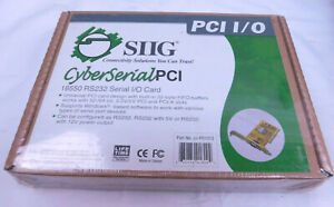 New SIIG 16550 RS232 Serial I/O Card JJ-P01012 Sealed Factory Package  J01012