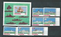 Grenada - 1976 Ships - Un-mounted mint set & Miniature Sheet