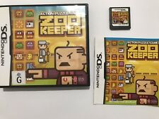 Zoo Keeper Action Puzzle Game Nintendo DS